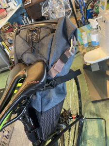 バイク取付時のサドルバッグ